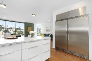 Full sized fridge and freezer.